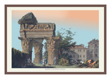 Temple of Jupiter Tonans Wall Decal by M. Dubourg