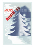 Christmas Means Business Wall Decal by H.j. Barschel