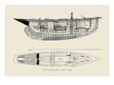 The Cutter Surf, Cabin Plans Wall Decal by Charles P. Kunhardt