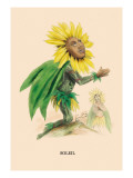 Soleil Wall Decal by J.J. Grandville