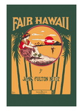 Fair Hawaii Wall Decal by L. E. Morgan
