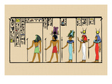 Horus, Ras, Isis and Ra-Ta Wall Decal by J. Gardner Wilkinson