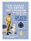 For Canada, The Empire, and Freedom Wall Decal by M. Gagnon