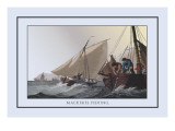 Mackerel Fishing Wall Decal by J.h. Clark
