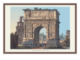 Arch of Trajan at Benevento Wall Decal by M. Dubourg