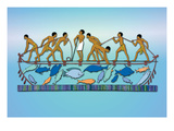 Fishing with a Drag Net Wall Decal by J. Gardner Wilkinson