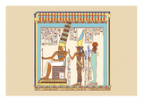 The Great Triad of Thebes, Amen, Mut, and Khonsu Wall Decal by J. Gardner Wilkinson