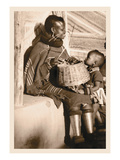 South African Mother and Child Wall Decal by Leon V. Kofod
