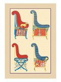 Ancient Egyptian Chairs Wall Decal by J. Gardner Wilkinson