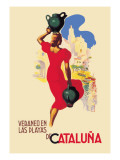 Veraneo En las Playas de Cataluna Wall Decal by A. Gual