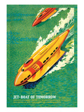 Jet-Boat of Tomorrow Wall Decal by James B. Settles