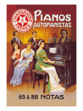 Pianos Autopianistas with Beethoven Wall Decal by A. Trub