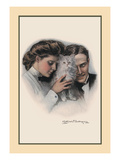 Cat Between Them Wall Decal by Clarence F. Underwood