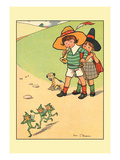 Jack and Jill Scaring the Elves Wall Decal by Rosa C. Petherick