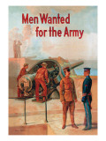Men Wanted for the Army Wall Decal by Michael P. Whalen