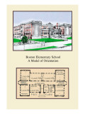 Boston Elementary School Wall Decal by Geo E. Miller
