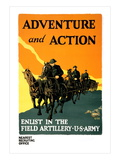 Adventure and Action, Enlist in the Field Artillery Wall Decal by Harry S. Mueller