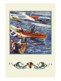 16 Foot Runabout Wall Decal by Edward A. Wilson