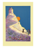 Castle on a Mountain Wall Decal by John R. Neill