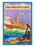 Ether-Powership of Europa Wall Decal by James B. Settles