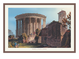 Temple of Vesta at Tivoli Wall Decal by M. Dubourg