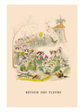 Retour des Fleurs Wall Decal by J.J. Grandville