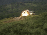 A Marine Scores a Direct Hit While Firing an A-4 at an Armored Personnel Carrier Photographic Print by  Stocktrek Images