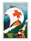 Red Cross Annual Roll Call Wall Decal by E. Seaver