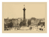 Bastille Place, July Column Wall Decal by Helio E. Ledeley