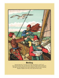 Sailing, c.1873 Wall Decal by J.e. Rogers