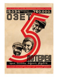 OZET No. 5, Birobidjan Lottery Wall Decal by Hail O. Dlugach