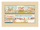 The Funeral Passing over the Lake of the Dead Wall Decal by J. Gardner Wilkinson