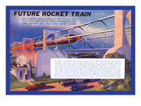 Future Rocket Train Wall Decal by H.w. Mccaulley