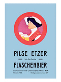 Pilznetzer is Das Beste Flaschenbier Wall Decal by F. Sperl