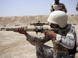 Iraqi Army Sergeant Sights in Down Range During an Advanced Marksmanship Course Photographic Print by  Stocktrek Images