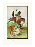 Teddy Roosevelt's Bears: Teddy B and Teddy G on the Farm Wall Decal by R.k. Culver