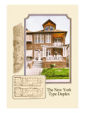 The New York Type Duplex Wall Decal by Geo E. Miller