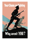 Your Chums Are Fighting, Why Aren't You Wall Decal by P.e. Nobbs
