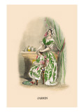 Jasmin Wall Decal by J.J. Grandville