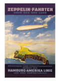 Hamburg America Lines Flies over the Ocean and Isthmus Wall Decal by E. Bauer