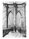 New York and Brooklyn Bridge Wall Decal by George P. Hall