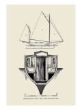 Single-Hand Yawl Rig and Construction Wall Decal by Charles P. Kunhardt
