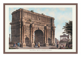 Triumphal Arch of Septimus Severus Wall Decal by M. Dubourg