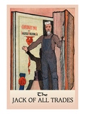 The Jack of All Trades Wall Decal by H.o. Kennedy