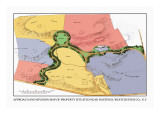 Approach and Division Map of Property Situated near Hastings, New York Wall Decal by J. Weidermann