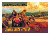 Sevilla Semania Santa y Ferias Wall Decal by N.c. Chilberg