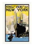 King's Views of New York Wall Decal by H.p. Junker