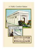 Public Comfort Station Wall Decal by Geo E. Miller