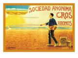 Sociedad Anonima Cros Abonos Wallsticker af C. Oliver