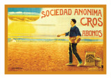 Sociedad Anonima Cros Abonos Wall Decal by C. Oliver